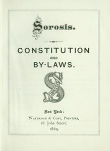 Sorosis By-Laws